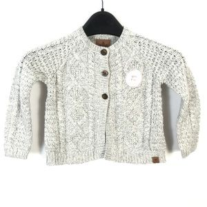 Canadiana girls knitted sweater cardigan